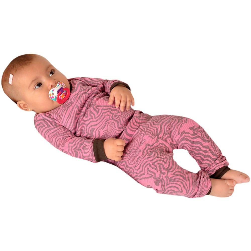 Pijama Cavalinhos Rosa Baby