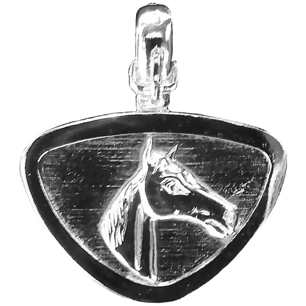 Pingente Feminino Cowboys para Colar Prateado Horse Face