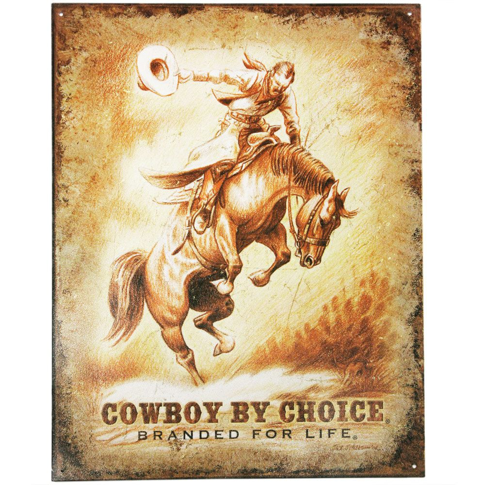 Placa De Metal Cowboy By Choice
