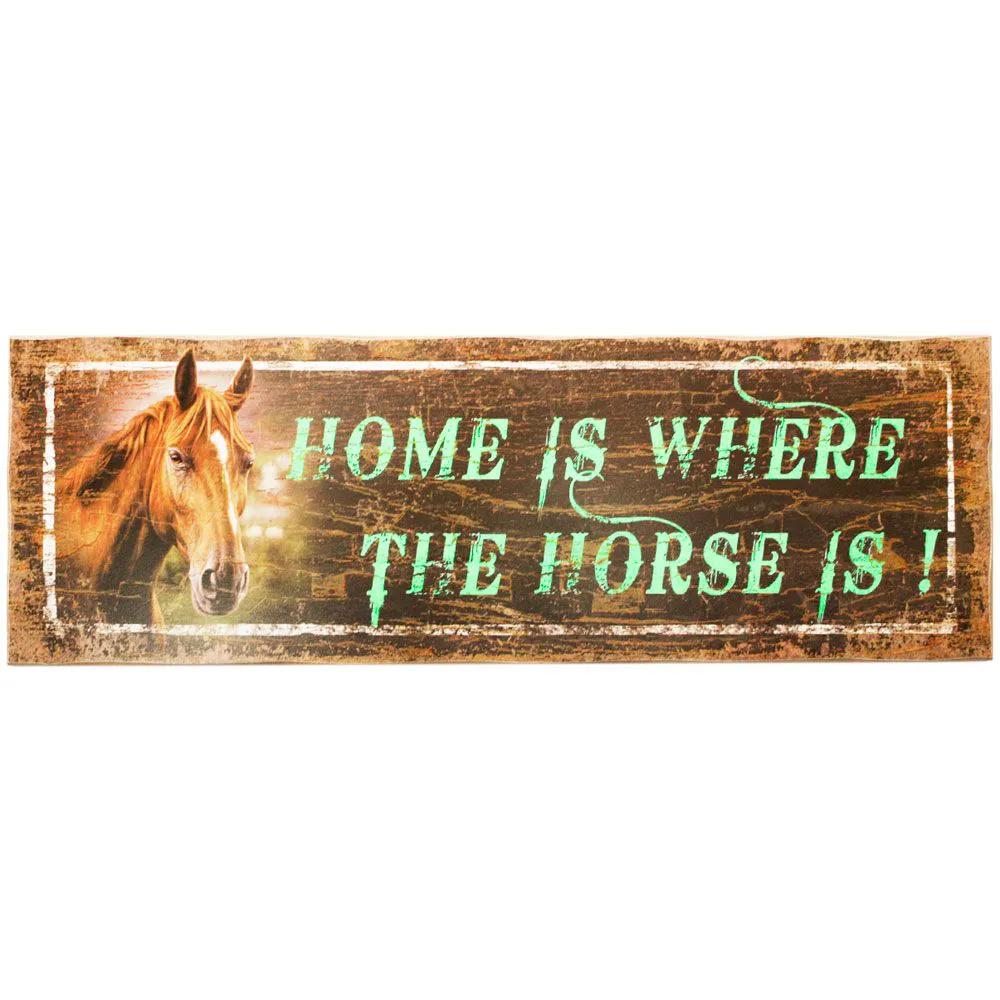 Placa Decorativa em Madeira The Horse