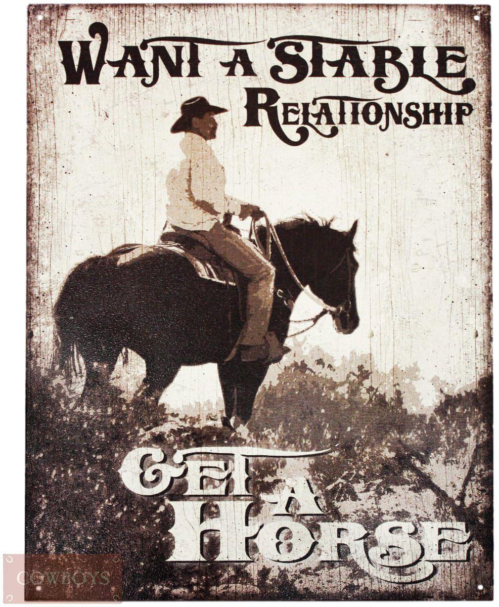 Placa Decorativa Importada de Metal Get a Horse