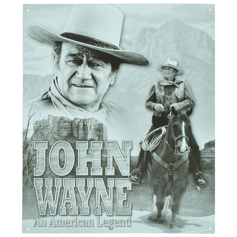 Placa Decorativa Importada de Metal John Wayne Modelo 1
