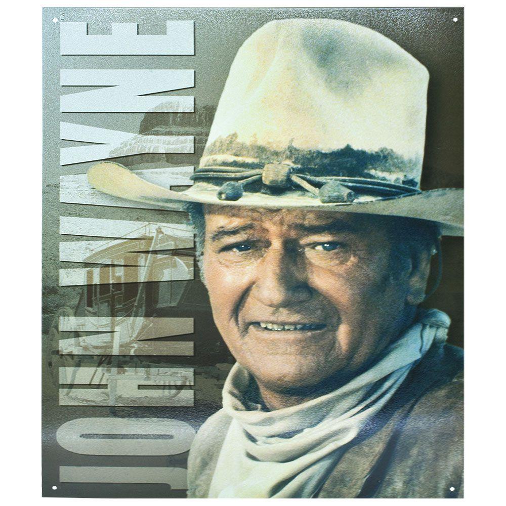 Placa Decorativa Importada de Metal John Wayne Modelo 2