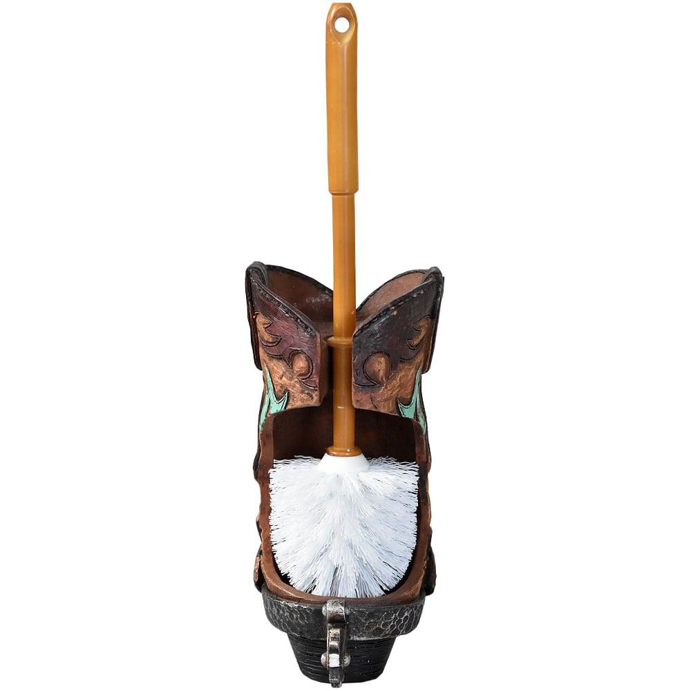 Porta Escova para Vaso Sanitário em Formato de Bota