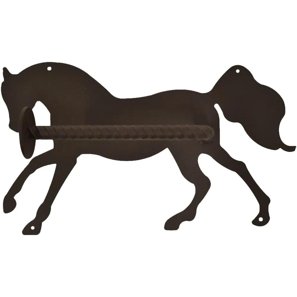 Porta Papel Higiênico de Metal Importado Cavalo Correndo