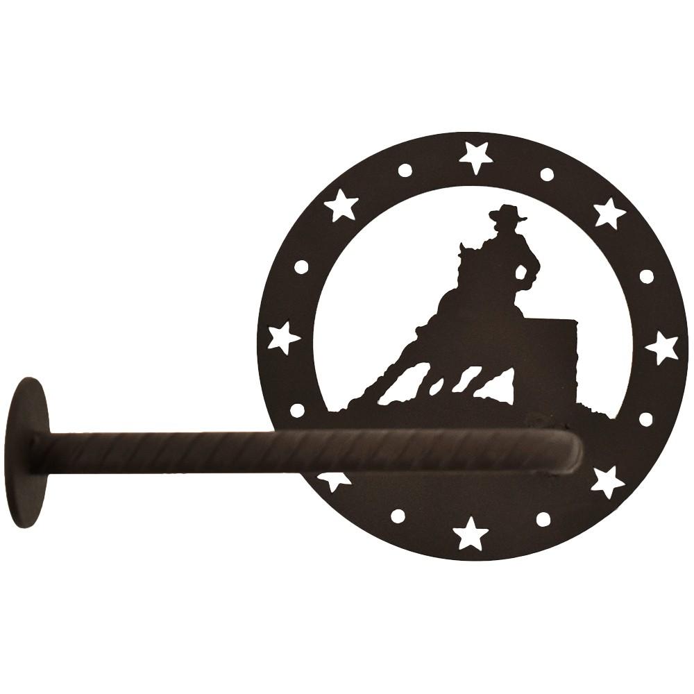 Porta Papel Higiênico de Metal Importado Três Tambores Circular