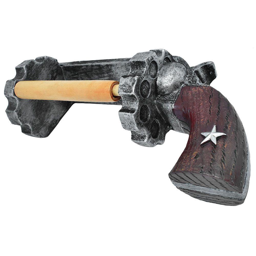 Porta Papel Higiênico de Resina Importado Revolver