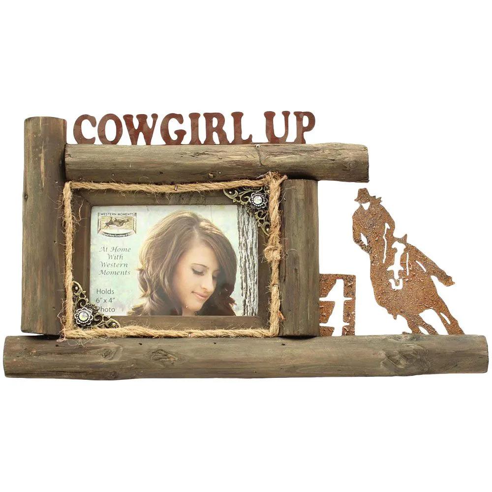 Porta retrato Western de Parede Cowgirl Up