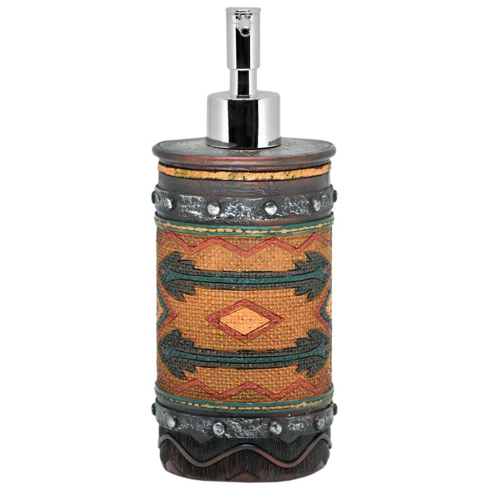 Porta Sabonete Líquido Importado em Resina Navajo