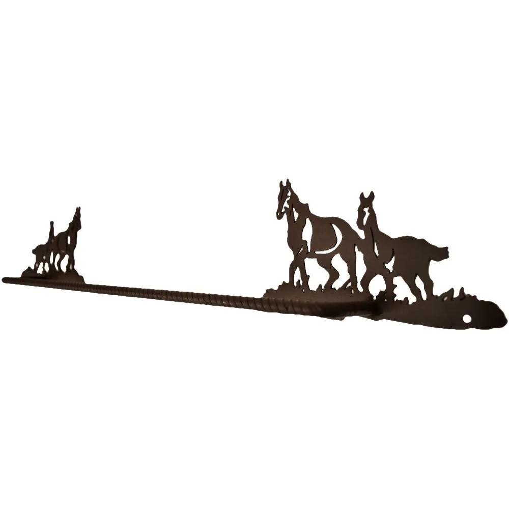 Porta Toalha de Metal Importado 2 Cavalos