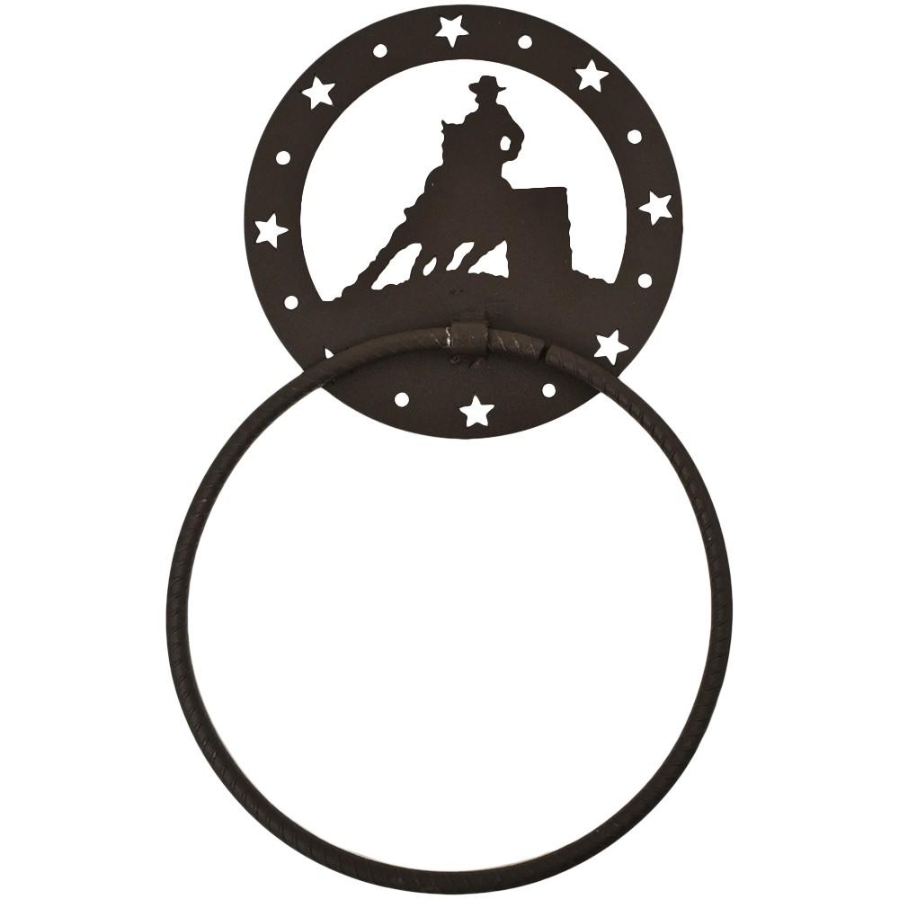 Porta Toalha de Metal Importado Com Argola 3 Tambores