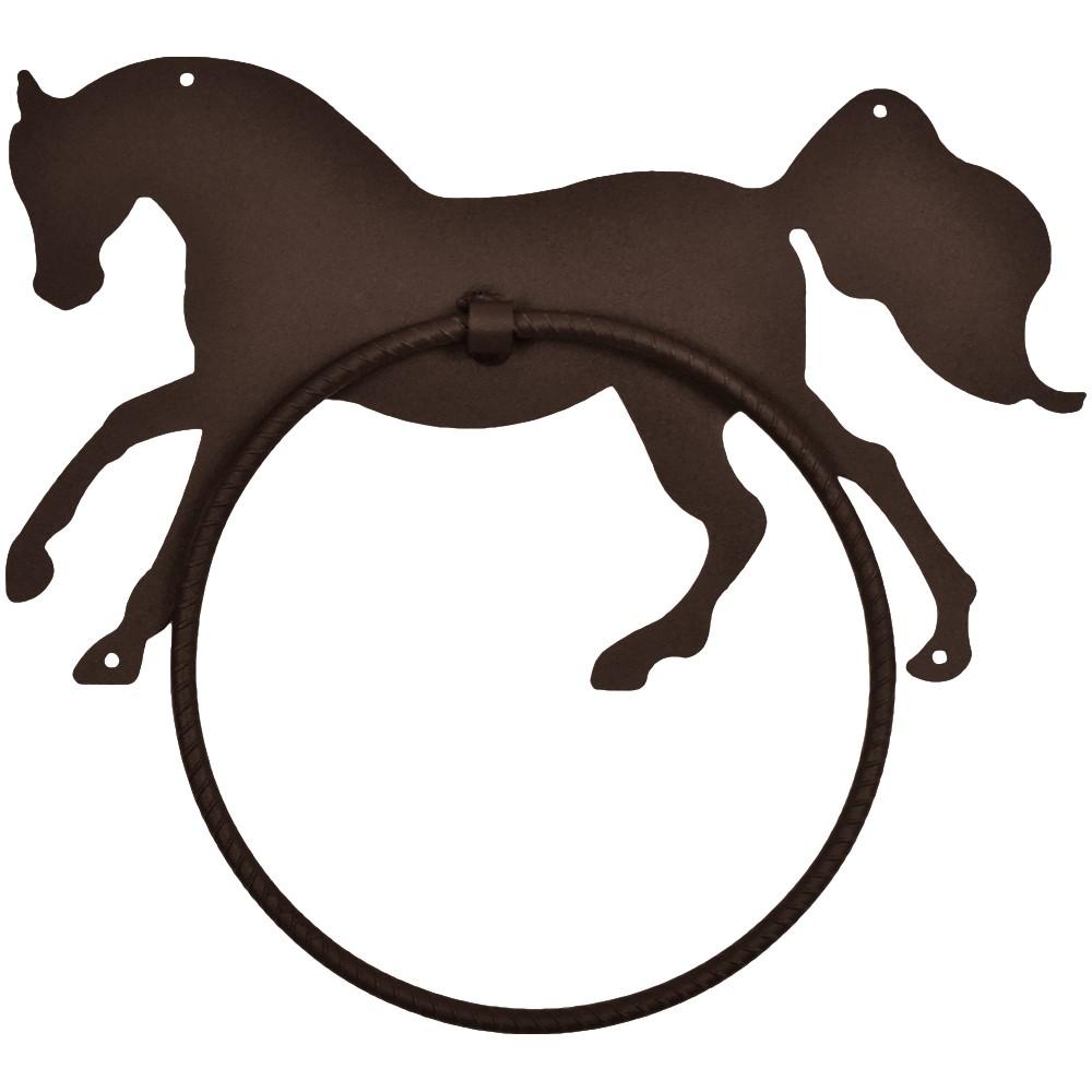 Porta Toalha de Metal Importado Com Argola Cavalo
