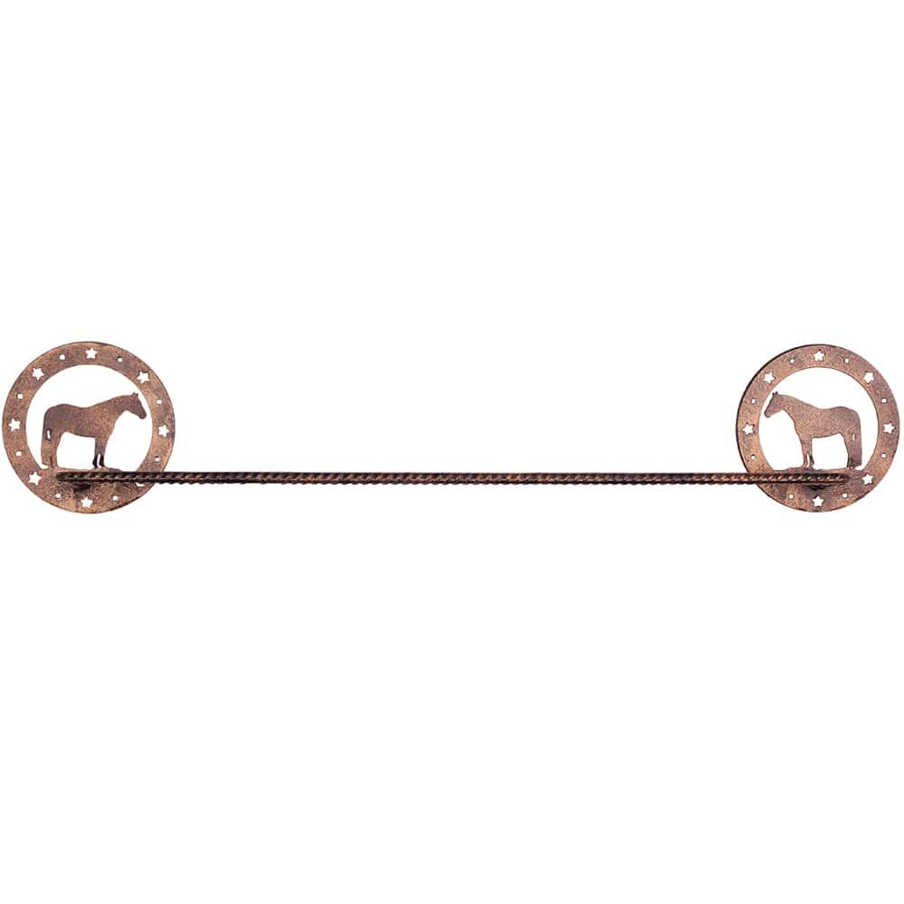 Porta Toalha em Metal Cavalo