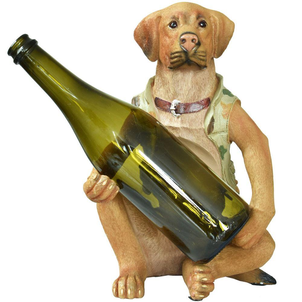 Porta Vinho Cachorro Sentado