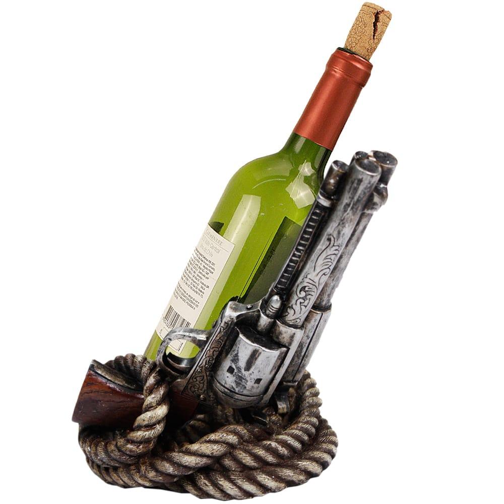 Porta Garrafa Duas Pistolas Enroladas com Corda Velha
