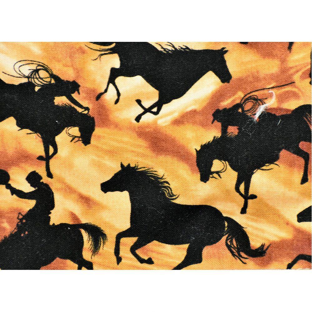 Puxa Saco Estampa Cavalos e Cowboys