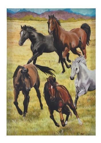 Quadro Tela Cavalos Correndo