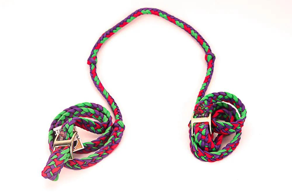 Rédea de Nylon Importada para Animais Verde, Roxo e Vermelho