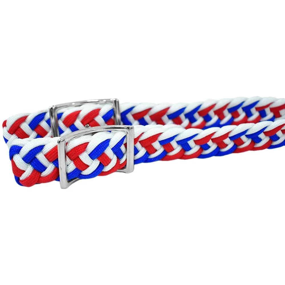 Rédea de Nylon Partrade Branca, Azul e Vermelha