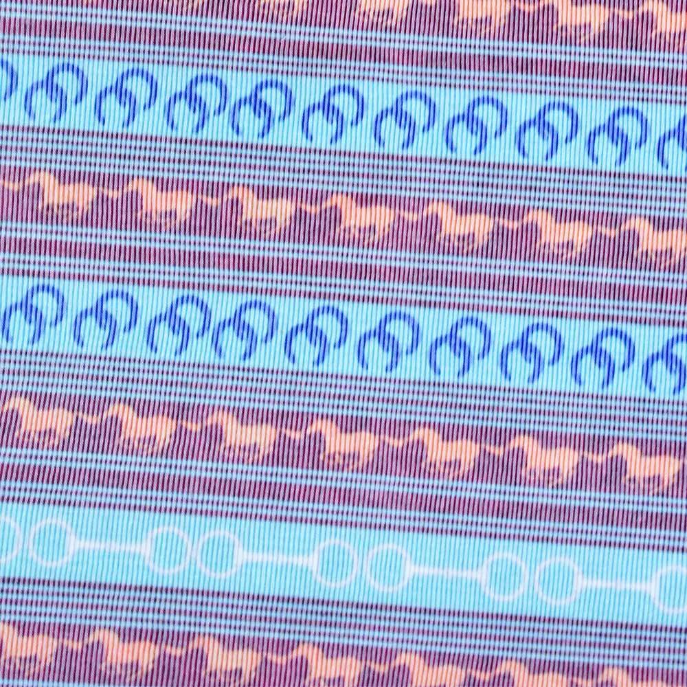 Regata Feminina Cowboys Azul com estampa de Cavalos e Ferraduras