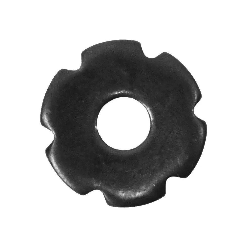 Roseta de Metal Preta Pequena Para Espora