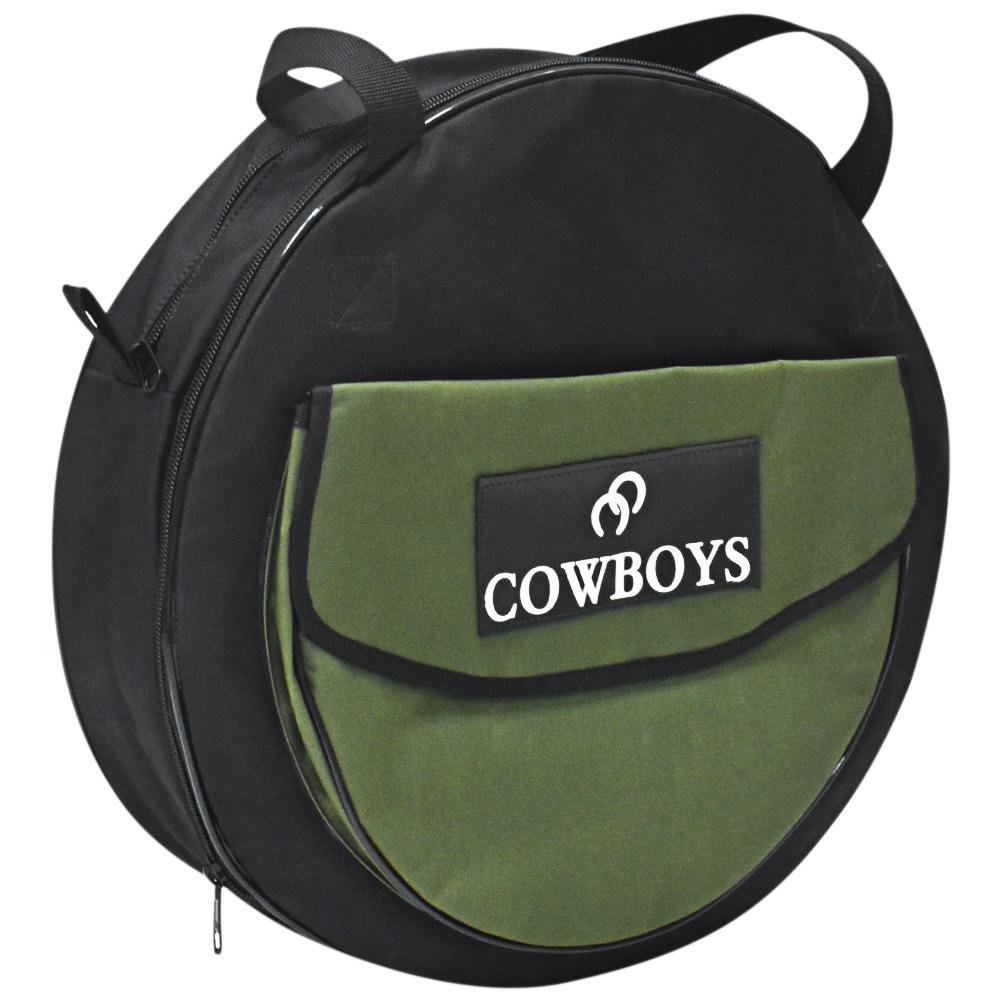 Sacola para Laço Cowboys Preta e Verde com Bolso Regulável