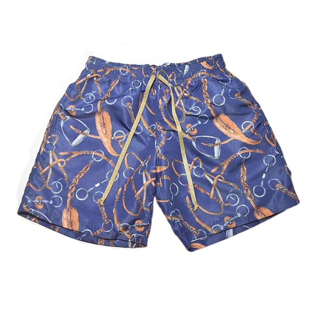 Short Azul Marinho Estampado