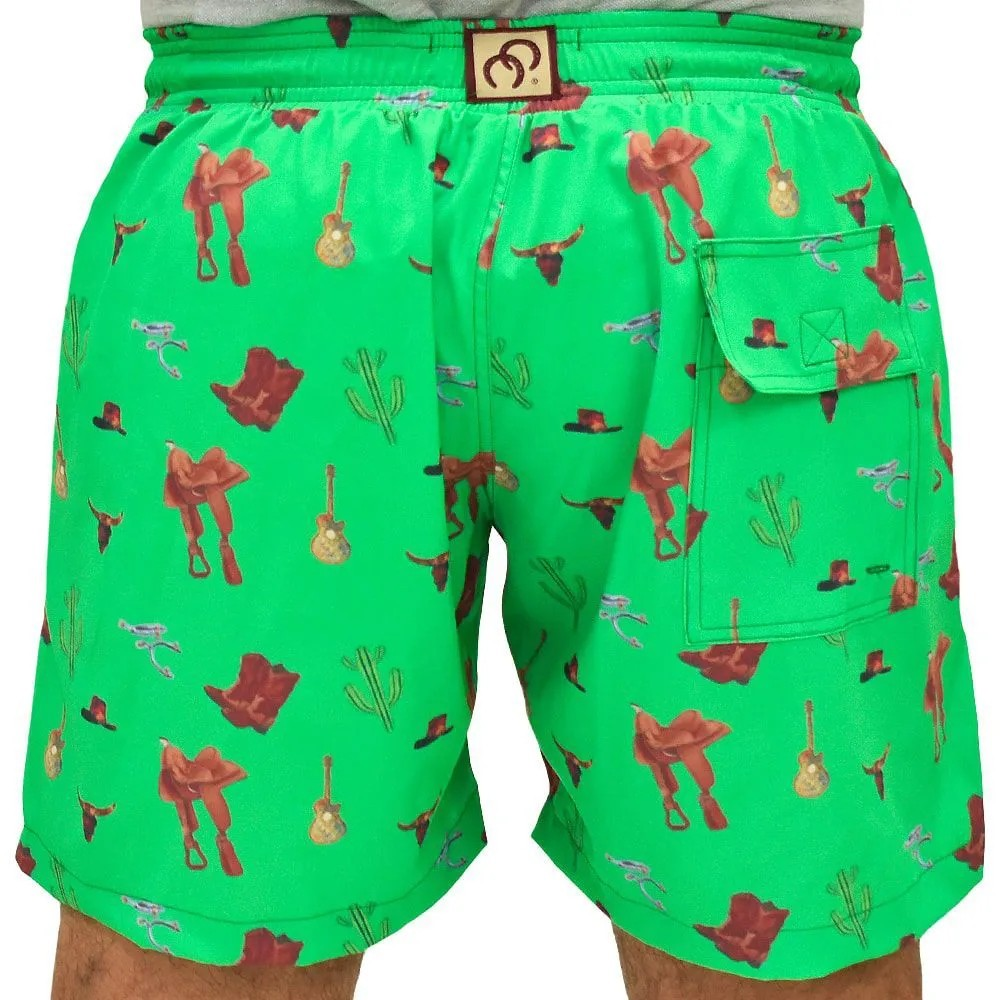 Short Verde Estampado Country