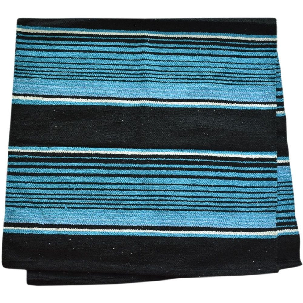Sobremanta de Lã Weaver Leather Azul e Preto