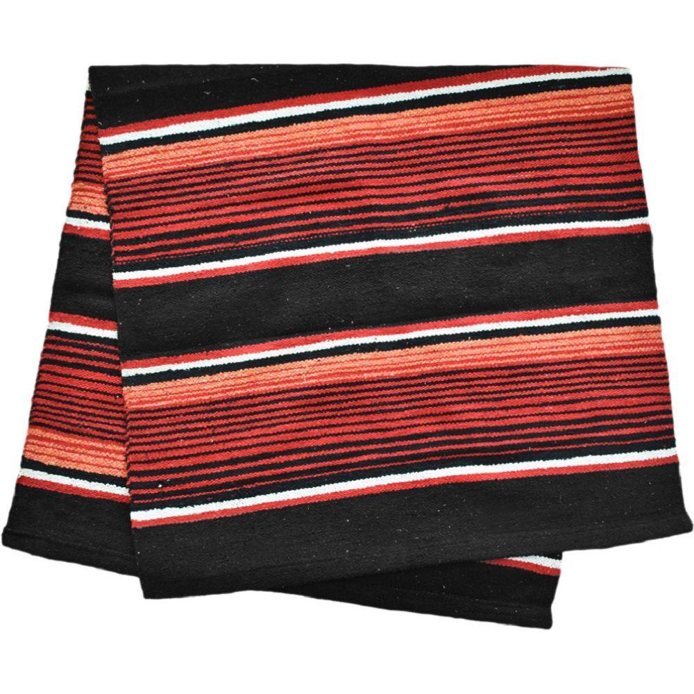 Sobremanta de Lã Preto & Vermelho Weaver
