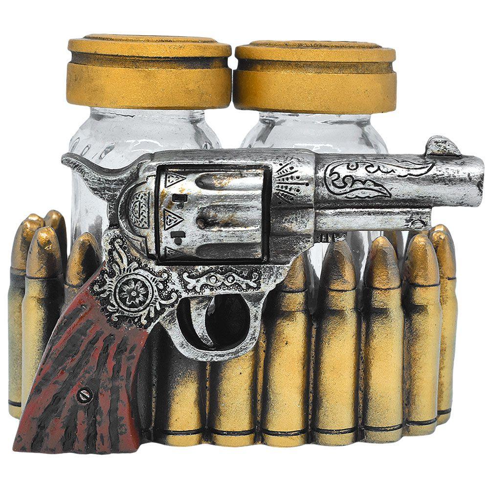Suporte Importado para Sal e Pimenta Revolver Texano