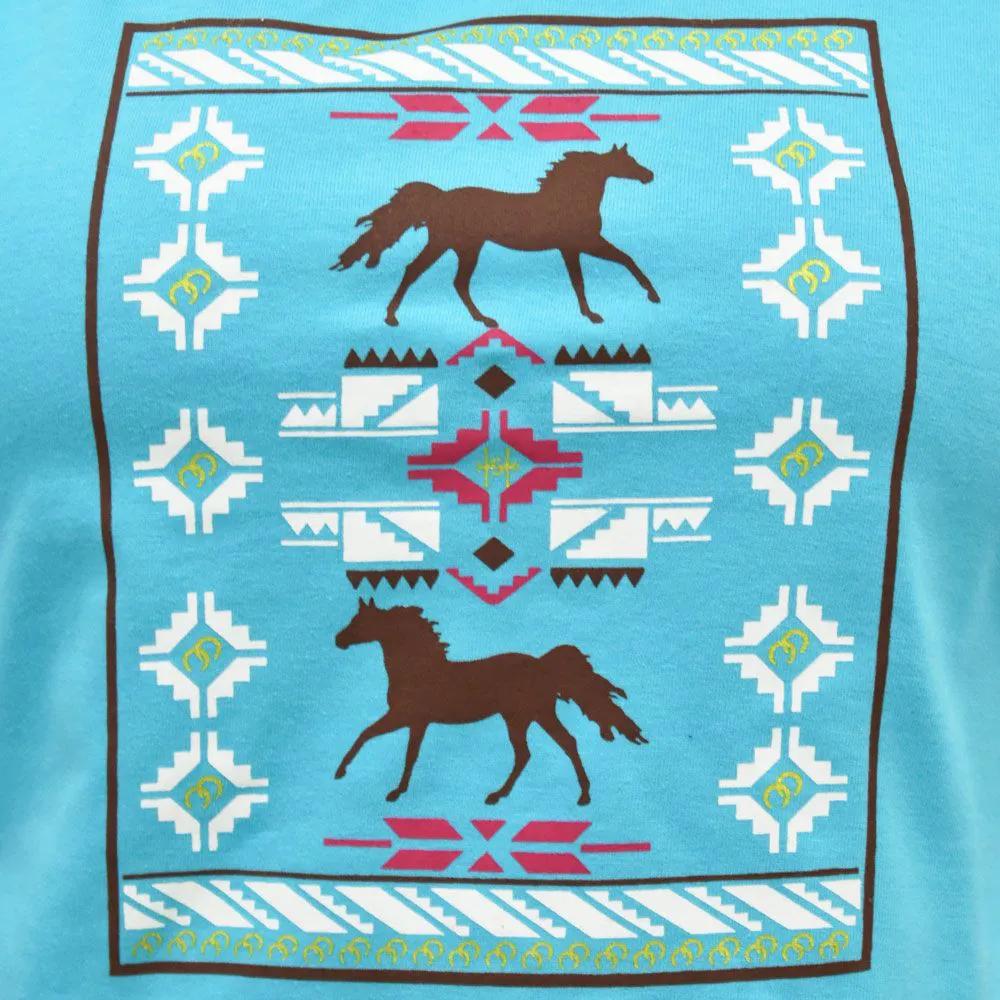 Blusinha Feminina Cowboys Turquesa Melody
