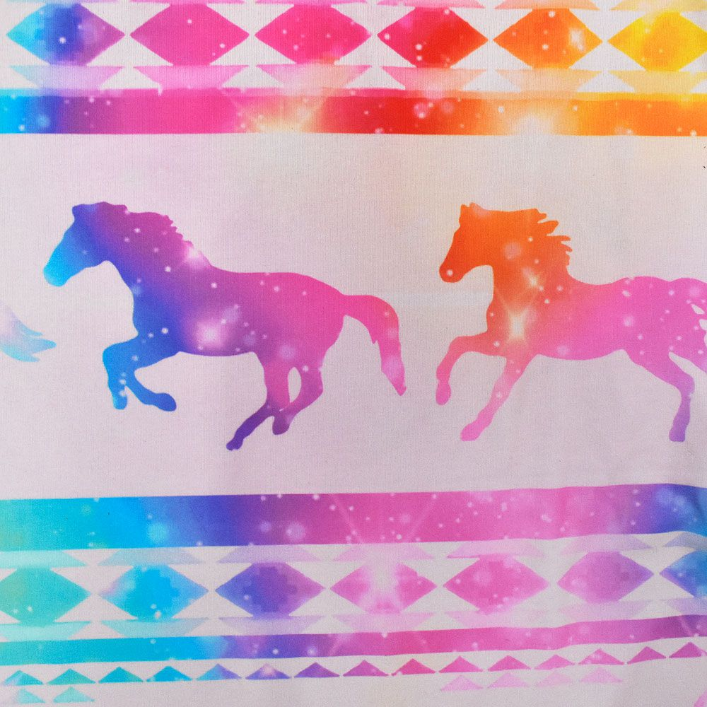 T-Shirt Infantil Heloisa Sá Estampa Cavalos Coloridos