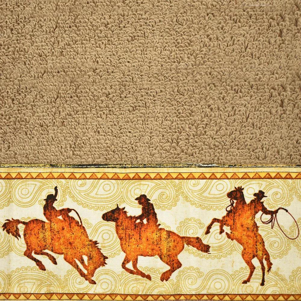 Toalha de Mão Cowboys Marrom Cavaleiros