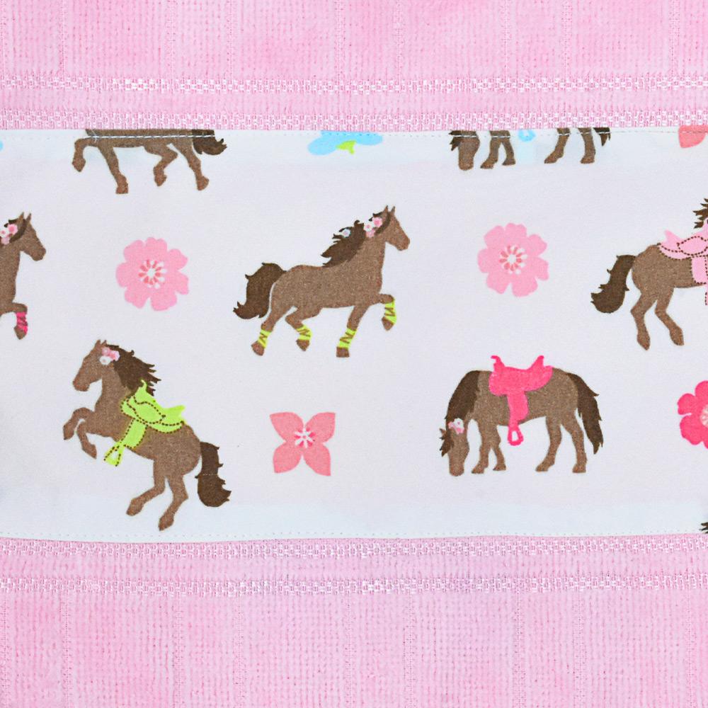 Toalha de Mãos Cowboys Rosa com Cavalos e Flores