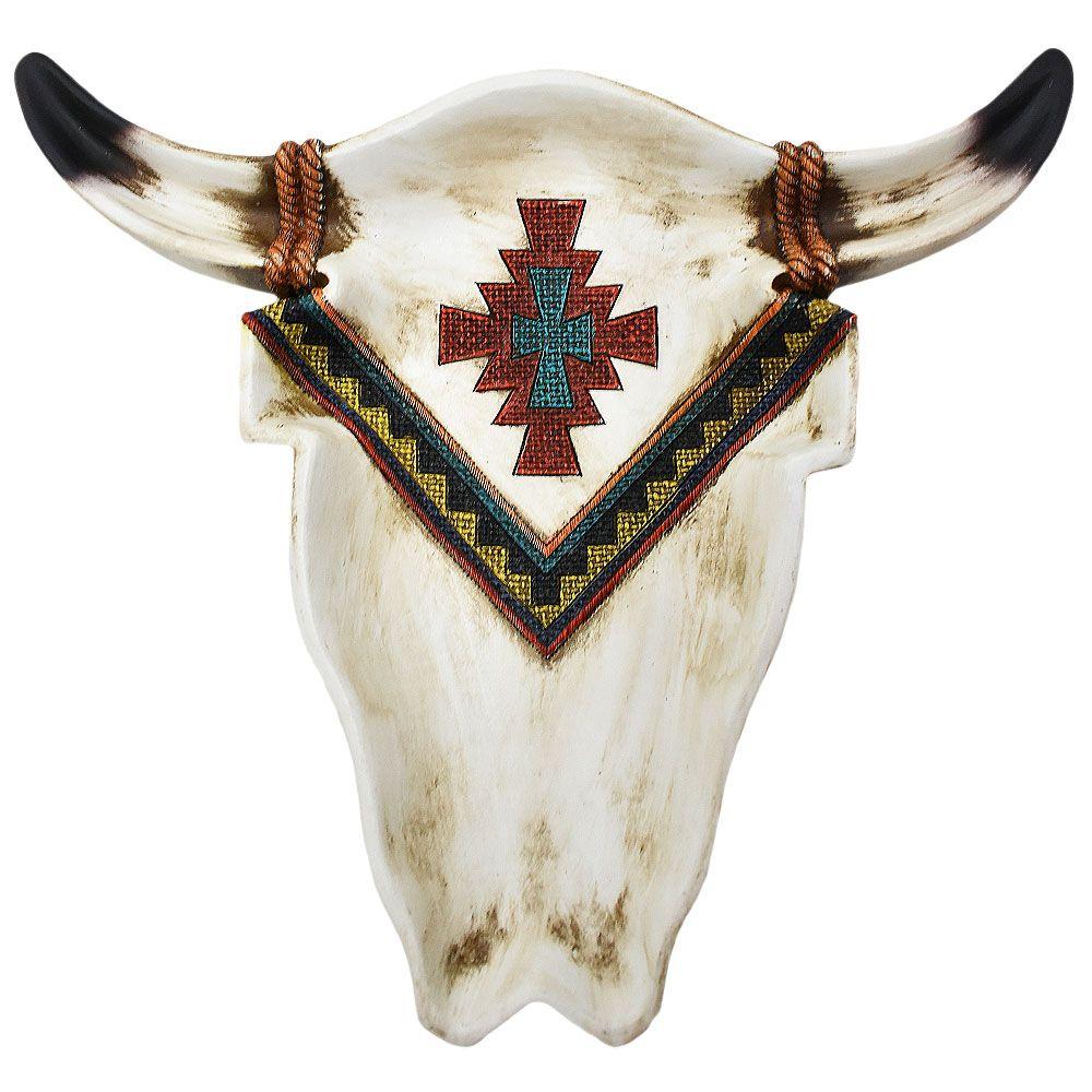 Petisqueira Importada em Resina Cabeça de Boi Navajo