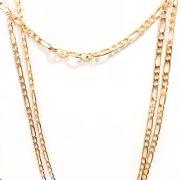 Conjunto Thassia Naves Inspired (3 Peças) Banho em Ouro