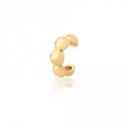 Piercing Fake  De Bolinha Banho em Ouro 18 k Semijoia