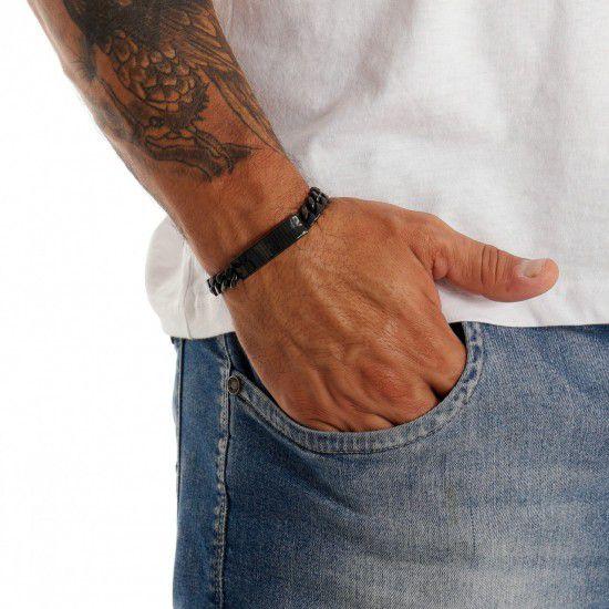 Bracelete De Aço Preto