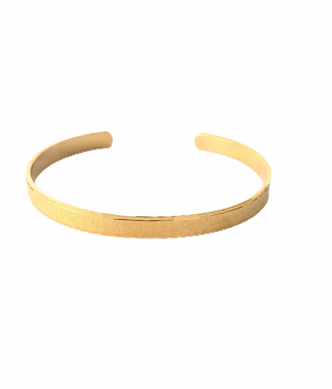 Bracelete Fosco Banho em Ouro 18k