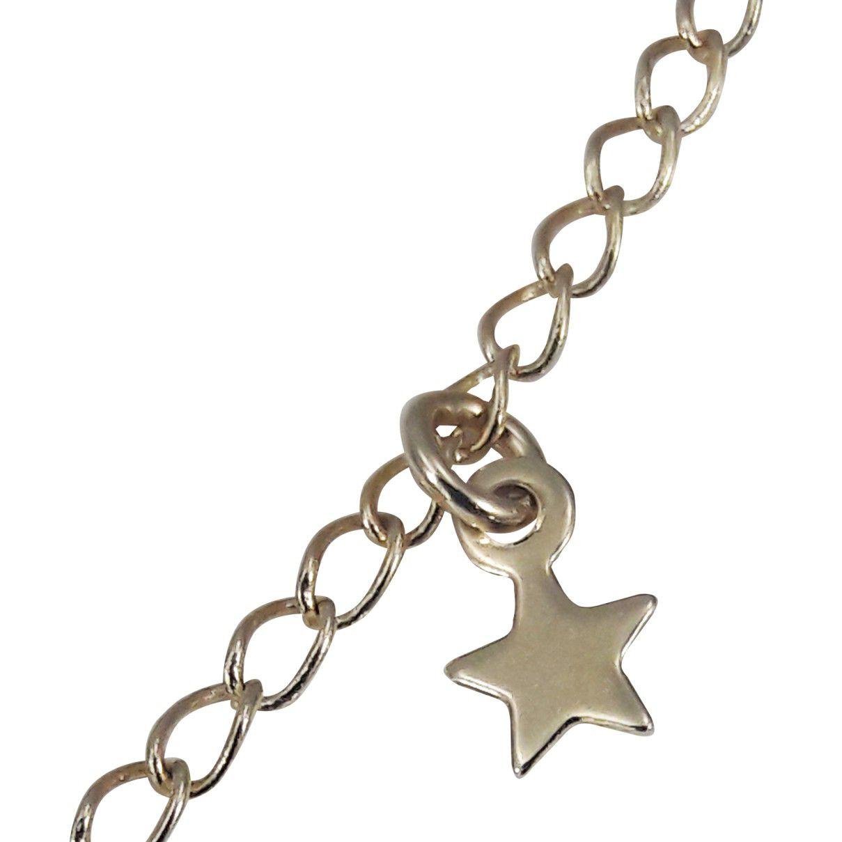 Colar Longo Estrelas Banho Em Ouro