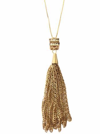 Corrente 80cm Tassel Banhado em Ouro 18k