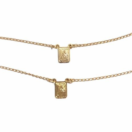 Escapulario Pequeno 60 cm Banhado em Ouro 18k