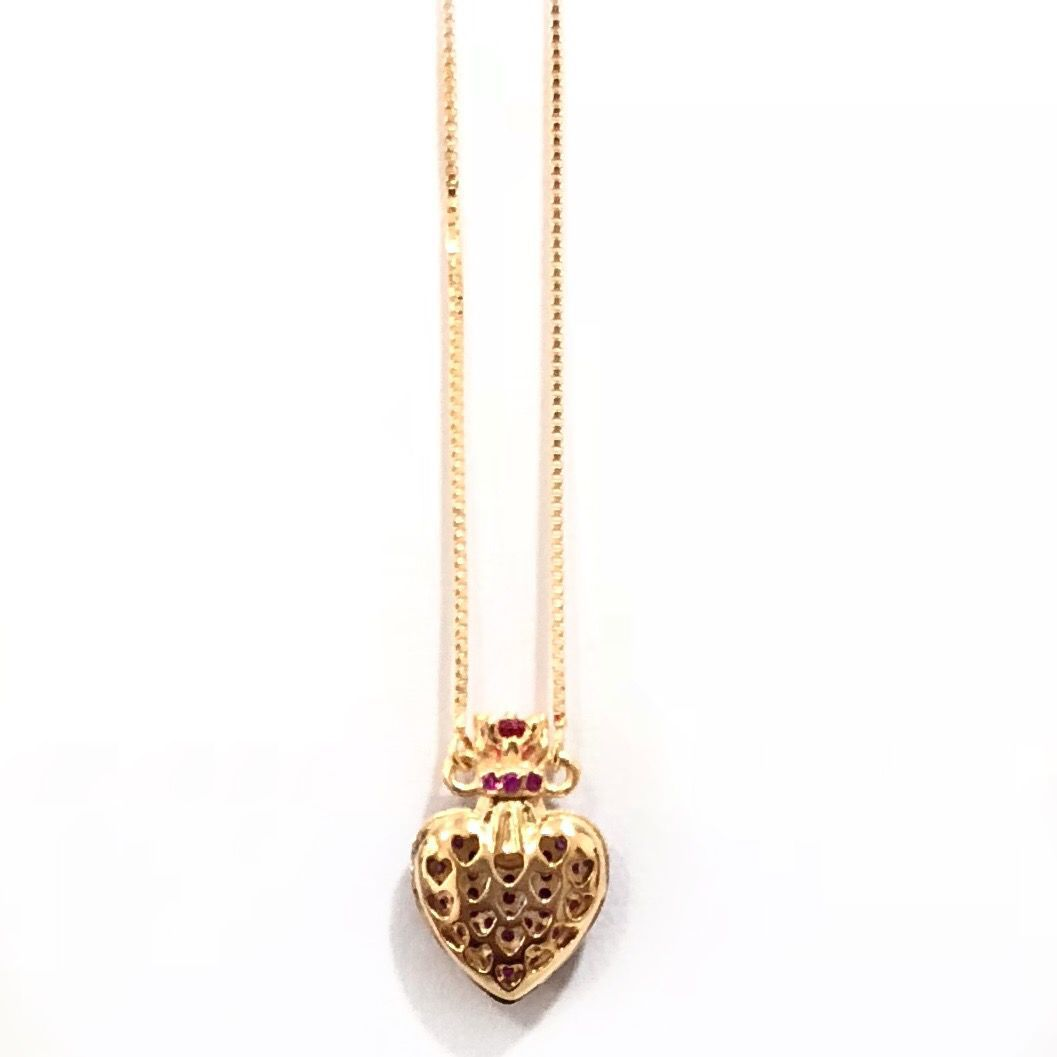 Colar Perfumeiro Microzirconias Pequeno Rosa Banho Em Ouro