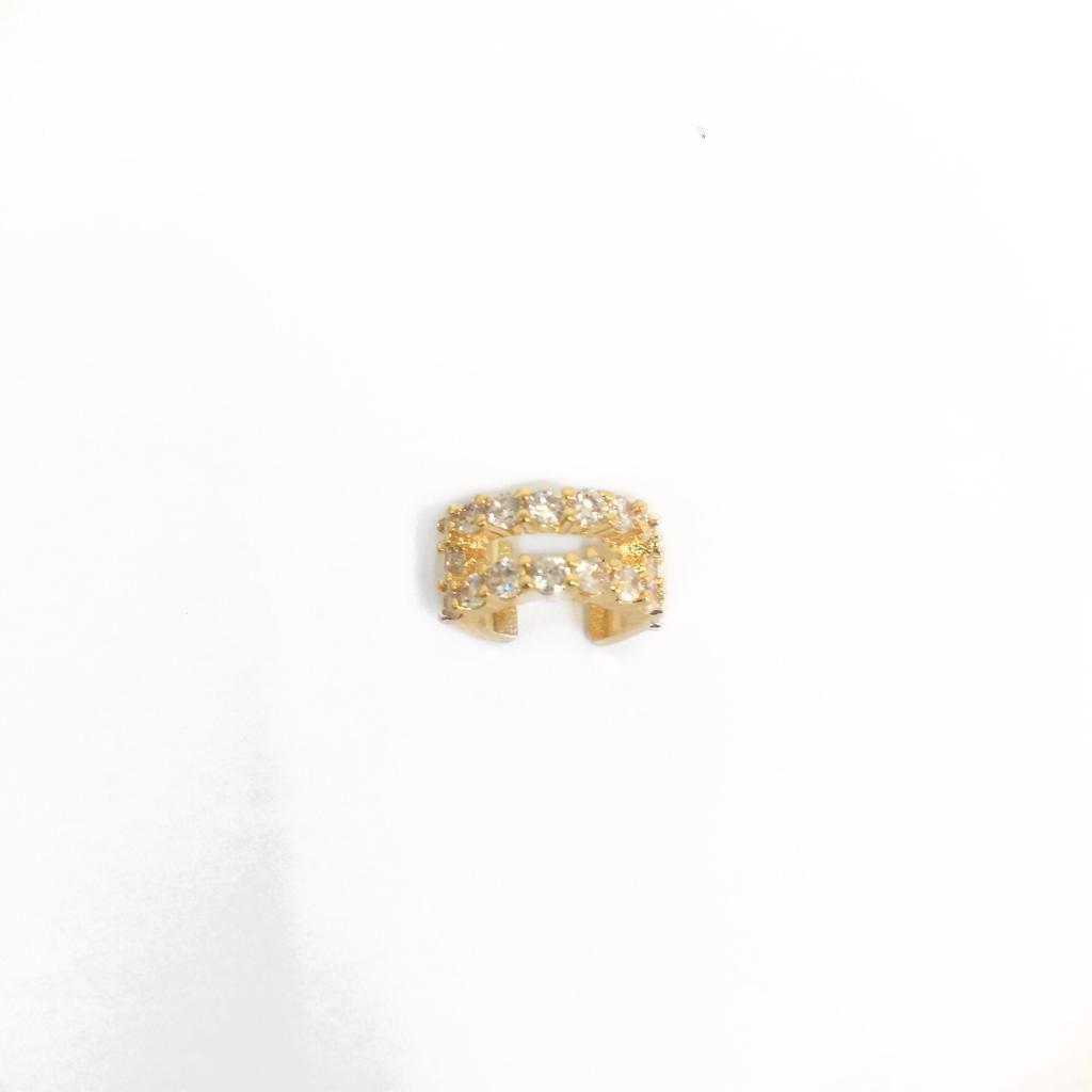 Piercing Zircônias Banho em ouro 18k