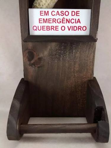 02 peças - Porta Papel Higiênico Sabugo de Milho