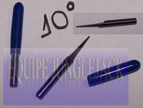 10 Peças - Fresa Gravação Ponta 0.1mm Metal Duro Router Cnc