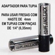 Adaptador Tupia Cnc Retífica Spindle, 1/4 P/ 4mm Router Cnc
