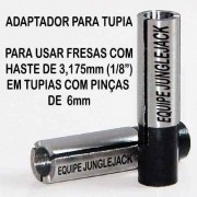 Adaptador Tupia Cnc Retífica Spindle, 6mm P/ 1/8 Router Cnc