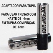 Adaptador Tupia Cnc Retífica Spindle, 6mm P/ 4mm Router Cnc